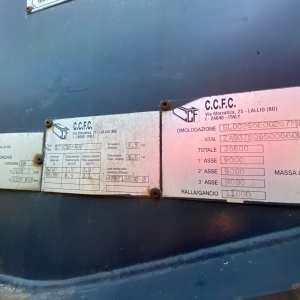 Semirimorchio CCFC Ralletta Portacontainer Ribaltabile